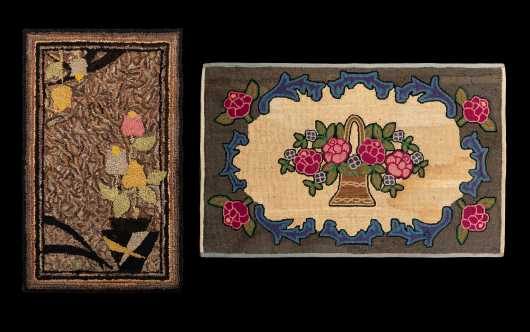 Two 19thC Hooked Rugs
