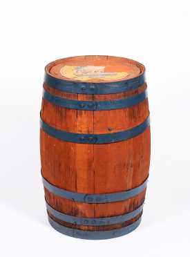 Coca-Cola Staved Barrel with Partial Label
