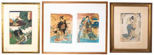Four Japanese Block Prints