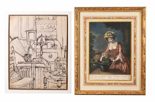 Two Framed Pieces of Artwork