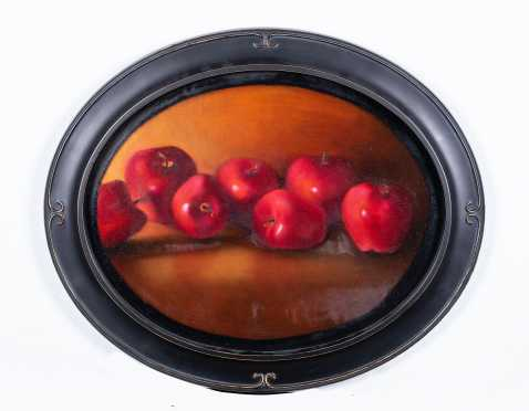"""Kendra Shea (2007), Oil on canvas """"Red Delicious"""""""