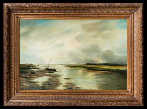 """""""Tremont"""" Signed Painting Unknown L20thC Artist"""