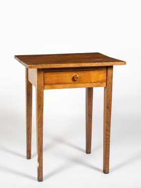 Pine and Oak One Drawer Stand