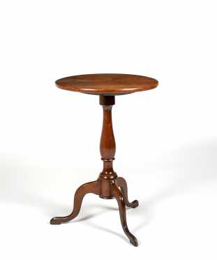 18thC Cherry Queen Anne Candle Stand