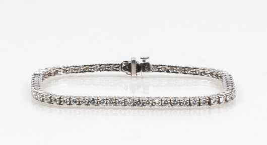 Three Carat Diamond 18K Tennis Bracelet