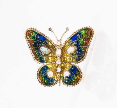 Plique Azure 14K Butterfly