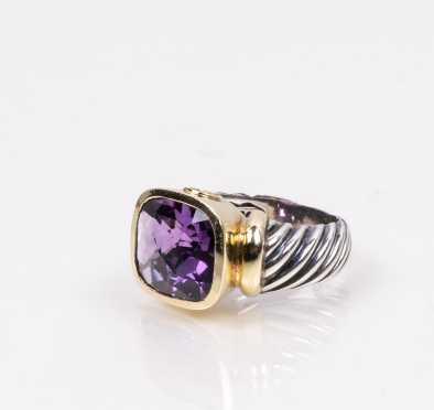 David Yurman Noblesse Amethyst Ring