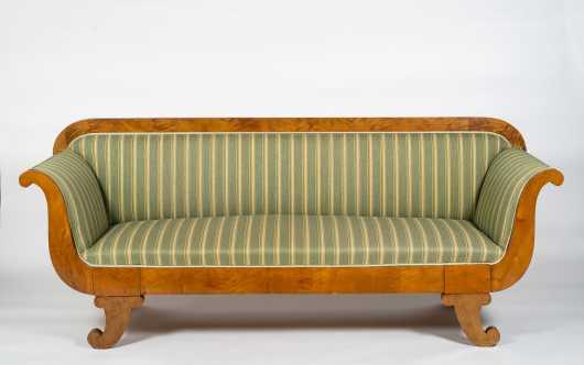 19thC Swedish Biedermeier Lightwood Sofa