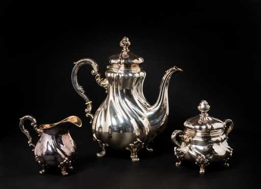 20thC Swedish Sterling Silver Tea Service