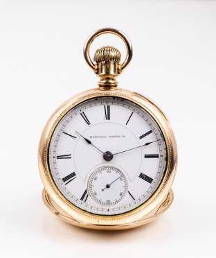 Hampden Pocket Watch with Exhibition Back