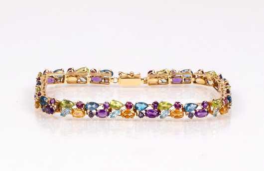14k Gemstone Bracelet