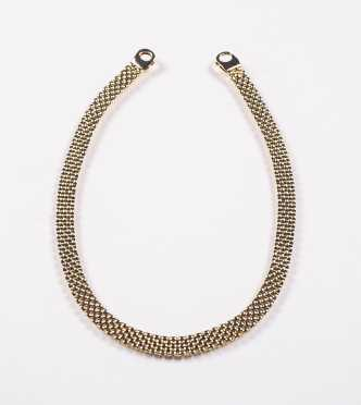 9K Yellow Gold Panther Collar Necklace