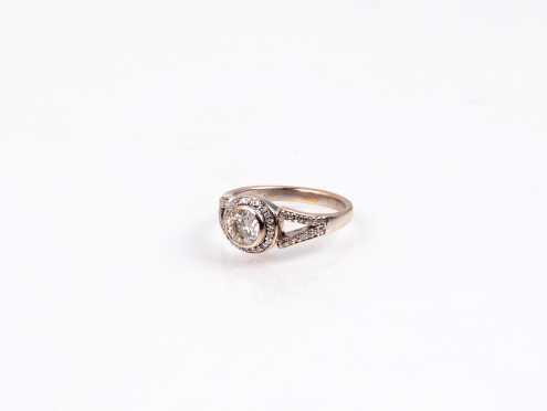 14K Bezel Set Diamond Ring