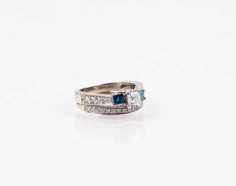 Modern Diamond Bridal Set in 14K