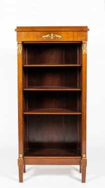 20thC French Empire Bookcase with Adjustable Shelves