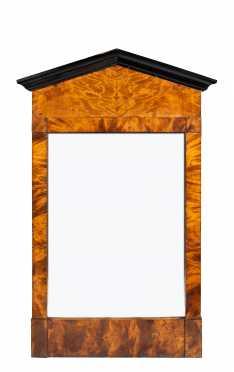 19thC Swedish Biedermeier Curly Birch Mirror