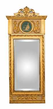 19thC Swedish Gilded Mirror with Classical Influence