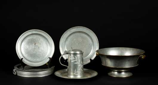 Lot of Miscellaneous Old and Vintage Pewter