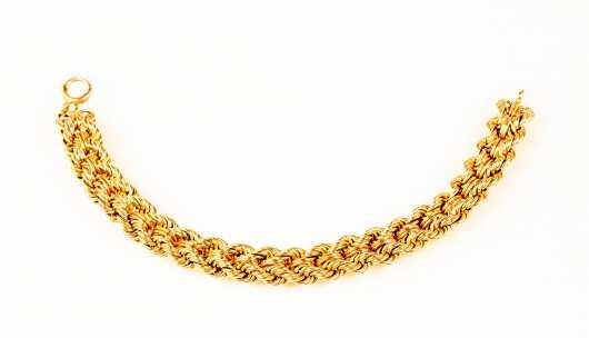 Double Rope 14K Yellow Gold Bracelet