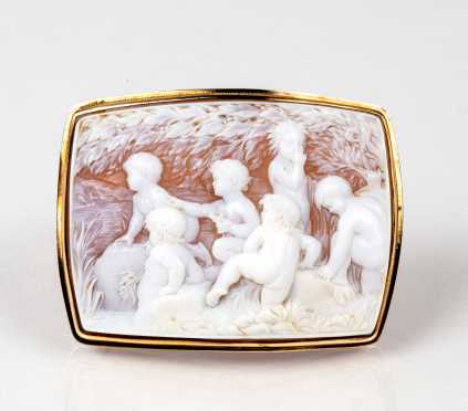 Antique Large Rectangle Shell Cameo