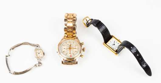 Wyler Chronograph and Two Other Watches