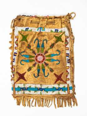 Earlier Native American Leather and Beaded Bag
