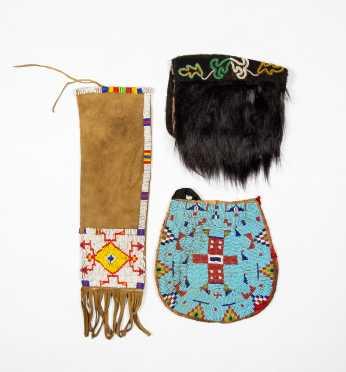 Three 20thC Native American Beaded Bags