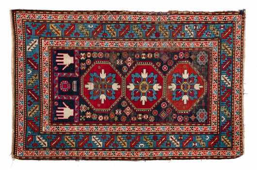 E20thC Kazak Scatter Oriental Rug