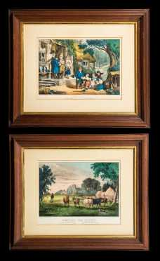 Two Currier and Ives Engravings - Small Folio