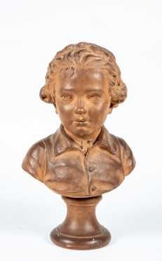 French Terracotta Bust Signed A. (Augustin) Pajou (1730-1809)