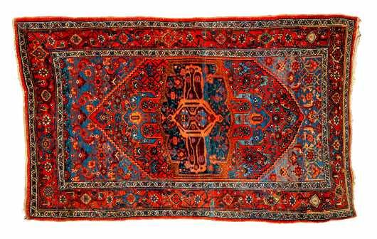 20thC Bijar Scatter Size Oriental Rug