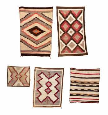 Five Navajo Scatter Size Rugs/ Weavings