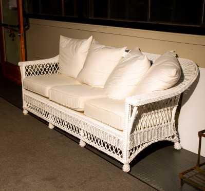 L20thC Wicker Sofa