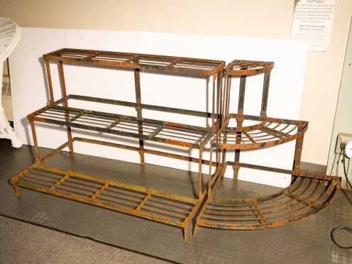Two Piece Metal Plant Stand