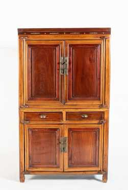 Two Part 19th/20thC Chinese Cabinet