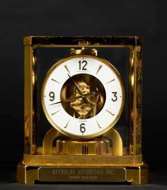Atmos Brass and Glass Shelf Clock