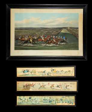 19th/20thC Lot of Four English Colored Horse Prints