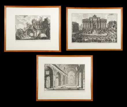 Three Framed Early Architectural Engravings