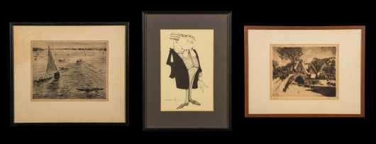 Three Signed Etchings