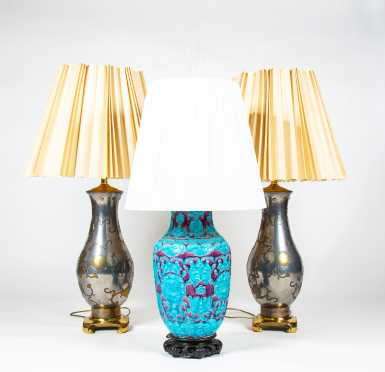 Three Chinese Table Lamps