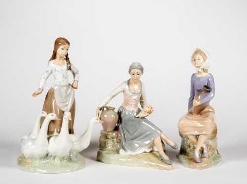 Three Zaphir Gloss Figurines, Made in Spain