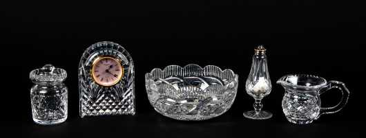 Five Piece Waterford Crystal Lot