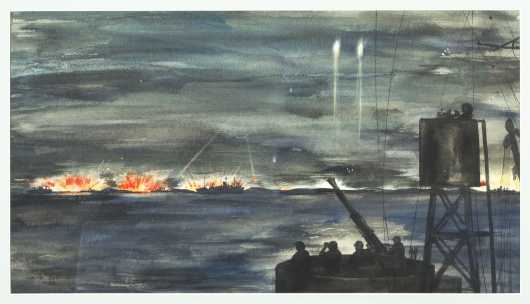 William A. Bostick (1913-2007), USN, Battle of Sicily, 1943