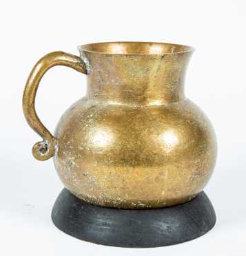 17thC or Earlier Wrought Bronze Pitcher