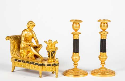 Pair of Classical Style Candle Sticks