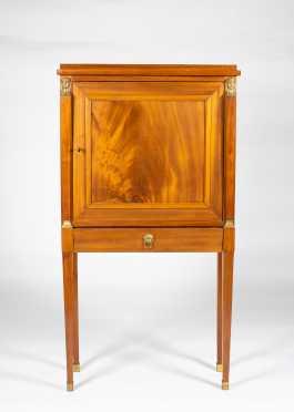 E20thC Mahogany Biedermeier Style Cabinet on Tall Legs