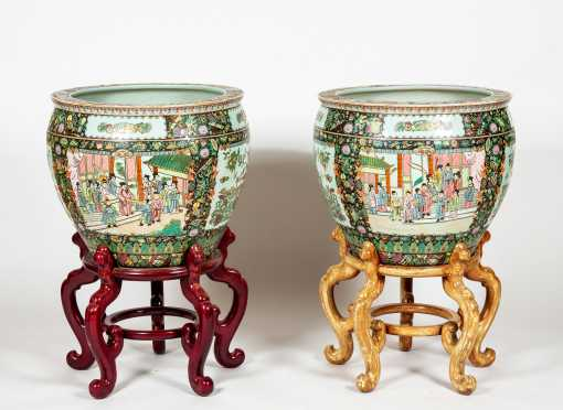 Pair of Chinese Planters