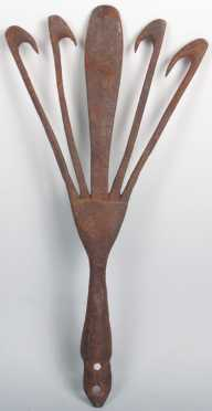 Antique Wrought Iron Eel Spear Head