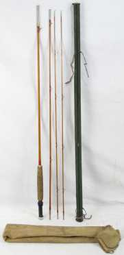 Three Piece Bamboo Fly Rod with Two Tips