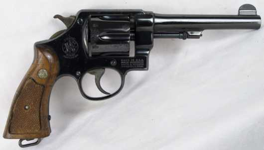 """""""U.S. Property"""" Smith and Wesson D.A .45 cal revolver"""